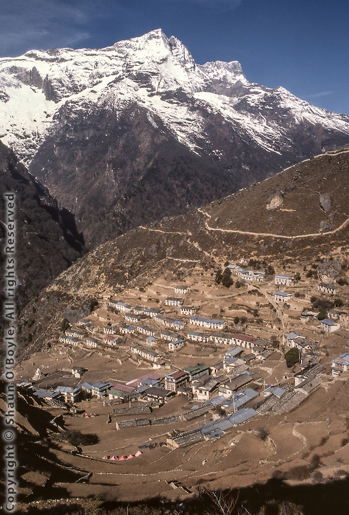 Namche Bazaar, Largest town in the Sherpa region of Khumbu, Nepal.
