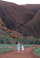 The Duke and Duchess of Cambridge take the Kuniya Walk at Uluru, Northern Territories, as part of their tour of New Zealand and Australia, on the 22nd April 2014