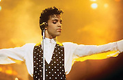 """Prince wardrobe and memorabilia; including Beaded Jacket from 'Under the Cherry Moon' to be auctioned  <br /> <br /> Prince's exquisitely made screen-worn beaded jacket from the 1986 film 'Under the Cherry Moon' will be auctioned by Boston-based RR Auction. <br /> <br /> The stunning lace jacket is covered in intricate, shimmering beadwork and faux pearls, and features a bolero-style front with a long, cape back. The jacket is easily photo-matched to the scene in the film where Prince and Mary are in the convertible under the full moon. <br /> <br /> """"This piece has never been laundered due to the delicate beading, and Prince's makeup is still present on the collar,"""" said Robert Livingston, Executive VP at RR Auction. <br /> <br /> Under the Cherry Moon was Prince's second movie as an actor (following Purple Rain), and his directorial debut. The soundtrack—the Parade album—was released to wide acclaim and featured Prince classics including 'Kiss,' 'Mountains,' and 'Girls & Boys.' Boasting ironclad provenance, this is a one-of-a-kind, elaborate wardrobe piece from one of Prince's films of the 1980s.<br /> <br /> The jacket originates from the collection of Prince's assistant, Therese Stoulil.  """"He was an extremely smart, articulate man with a very, very quick wit. He was driven by his creativity—there was always the next record, the next video, the next tour—it was 24/7,"""" said Stoulil in a statement posted on the auction house web site.  """"I will treasure those memories as well as the lifelong friendships I have to this day because of Prince and working at Paisley Park,"""" added Stoulil.<br /> <br /> """"This is a one-of-a-kind wardrobe piece from one of Prince's films of the 1980's— making it highly collectable,"""" said Robert Livingston Executive VP at RR Auction.<br /> <br /> Photo shows: Prince's stage-worn Black Polka Dot Vest<br /> <br /> Additional highlights include:<br /> <br /> Prince's black-and-white striped bolero jacket designed by Stacia Lang for the 1993 Act """