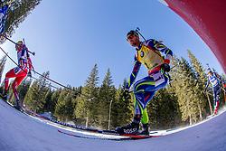 Martin Fourcade (FRA) during Men 15 km Mass Start at day 4 of IBU Biathlon World Cup 2015/16 Pokljuka, on December 20, 2015 in Rudno polje, Pokljuka, Slovenia. Photo by Urban Urbanc / Sportida