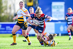Claire Molloy of Bristol Ladies is tackled by Tina Veale of Wasps Ladies - Mandatory by-line: Craig Thomas/JMP - 28/10/2017 - RUGBY - Cleve RFC - Bristol, England - Bristol Ladies v Wasps Ladies - Tyrrells Premier 15s