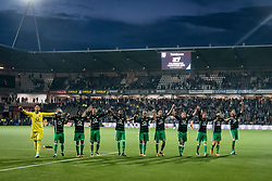 team of feyenoord during the Dutch Eredivisie match between Heracles Almelo and Feyenoord Rotterdam at Polman stadium on September 09, 2017 in Almelo, The Netherlands