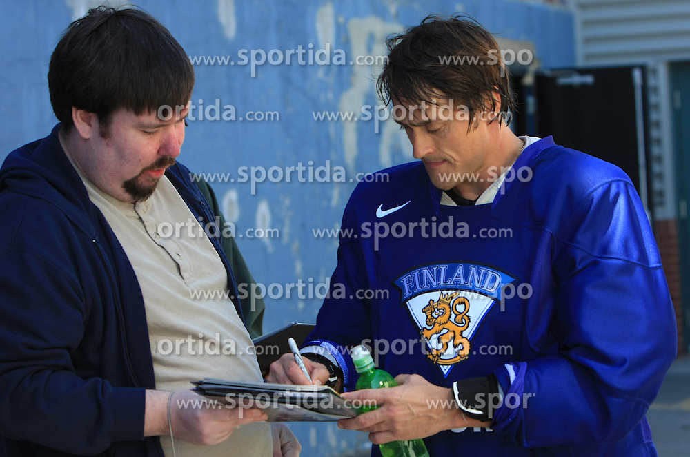 Teemu Selanne after practice of Finland national team at Hockey IIHF WC 2008 in Halifax,  on May 04, 2008 in Forum Centre, Halifax, Nova Scotia, Canada.  (Photo by Vid Ponikvar / Sportal Images)