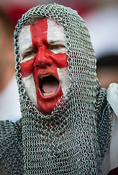 June 14, 2014 - Manaus, Brazil - An England fan cheers at the Group D match between England and Italy of 2014 FIFA World Cup at the Arena Amazonia Stadium in Manaus, Brazil. England lost 2-1 to Italy. (Credit Image: © Jonne Roriz/Fotoarena/ZUMAPRESS.com)