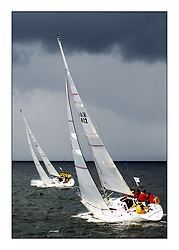 Yachting- The second start of the Bell Lawrie Scottish 2002 series at Inverkip racing to Tarbert Loch Fyne where racing continues over the weekend.<br /><br />Miss Behavin' K4412 and Pepsi IRL633 in the sigma 33 class<br />Pics Marc Turner / PFM