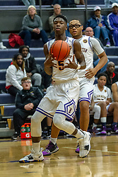 21 December 2018: Boys Basketball game between the Rantoul Eagles and the Bloomington Raiders at Bloomington High School in Bloomington