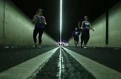 Runners make their way through Black Friars Tunnel during the 2018 London Landmarks Half Marathon. PRESS ASSOCIATION Photo. Picture date: Sunday March 25, 2018. Photo credit should read: Steven Paston/PA Wire