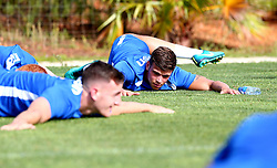 Tom Broadbent of Bristol Rovers warms up ahead of training on the first day in Portugal - Mandatory by-line: Robbie Stephenson/JMP - 18/07/2017 - FOOTBALL - Colina Verde Golf & Sports Resort - Moncarapacho, England - Sky Bet League One