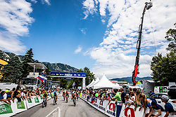 Finish line in Ajdovscina during 4th Stage of 26th Tour of Slovenia 2019 cycling race between Nova Gorica and Ajdovscina (153,9 km), on June 22, 2019 in Slovenia. Photo by Vid Ponikvar / Sportida