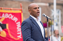 """© Licensed to London News Pictures. 03/09/2019. Bristol, UK. Bristol's elected Labour mayor MARVIN REES speaks at a protest rally on Bristol's College Green against Prime Minister Boris Johnson's """"Coup"""" and the proroguing of Parlimant and against a Conservative no deal Brexit. Photo credit: Simon Chapman/LNP."""