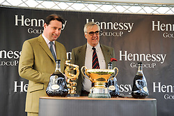 Left to right, JO THORNTON and MAURICE HENNESSY at the Hennessy Gold Cup 2010 at Newbury Racecourse, Berkshire on 27th November 2010.