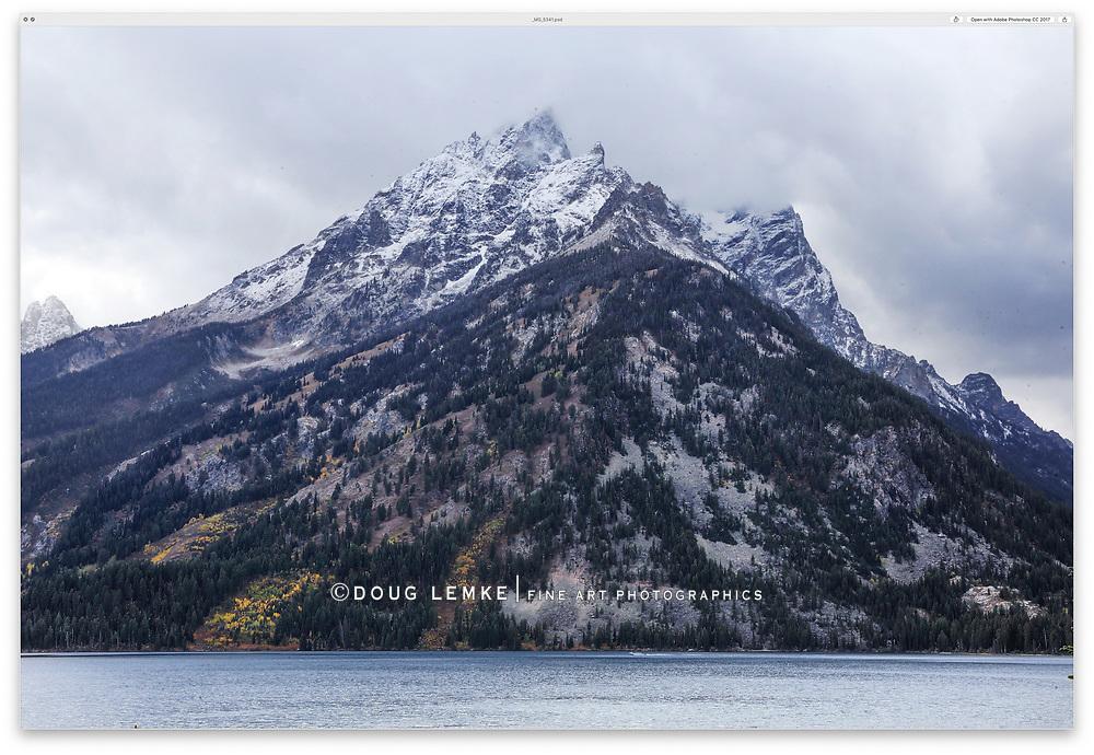Jenny Lake after an autumn rain storm at Grand Teton National Park, Wyoming, USA