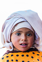 A three year old Bedouin girl, Petra, Jordan.