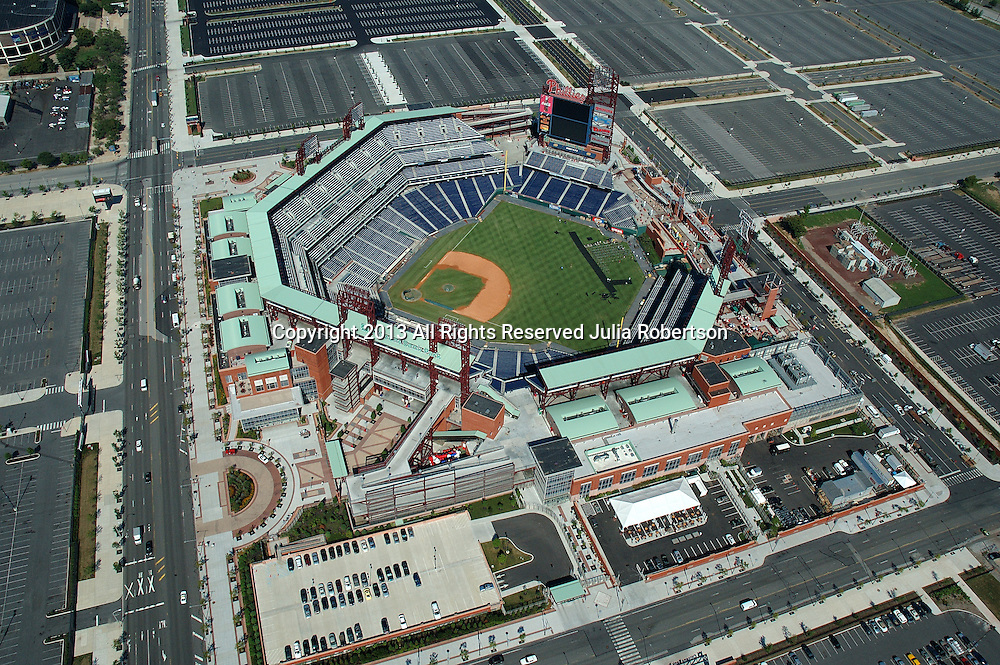 Aerial view of Citizens Bank Park home of the philadelphia phillies