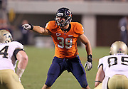 Sept. 3, 2011 - Charlottesville, Virginia - USA; Virginia Cavaliers linebacker Tucker Windle (39) watches a play during an NCAA football game against William & Mary at Scott Stadium. Virginia won 40-3. (Credit Image: © Andrew Shurtleff