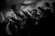 Inside the crypt where Benito Mussolini is burried. This picure is been shot in 2014, in 2018 the Mussolini family did not allowed journalist inside the cryps. About 2000 fascists gathered in Predappio, Italy to commemorate the annivrsary of the 'Marcia su Roma' A march held on October 28th 1922 and marked the start of the Italian fascist era .Federico Scoppa