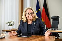 30 JUN 2021, BERLIN/GERMANY:<br /> Svenja Schulze, SPD, Bundesumweltministerin, waehrend einem Interview, in ihrem Büro, Bundesumweltministerium<br /> IMAGE: 20210630-01-007<br /> KEYWORDS: Büro
