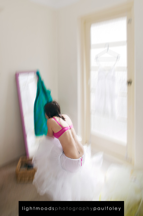 Young woman getting ready to go out