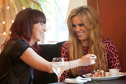 """Maria in Let's Eat Restaurant..Filming of """"Ma Way"""", Maria Fowler""""s guide to Perth..© Michael Schofield."""