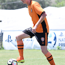 BRISBANE, AUSTRALIA - JANUARY 8: Kye Rowles of the Roar in action during the round 8 Foxtel National Youth League match between the Brisbane Roar and Perth Glory at AJ Kelly Field on January 8, 2017 in Brisbane, Australia. (Photo by Patrick Kearney/Brisbane Roar)
