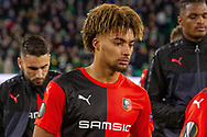 Yann Gboho (34) during the Europa League match between Celtic and Rennes at Celtic Park, Glasgow, Scotland on 28 November 2019.