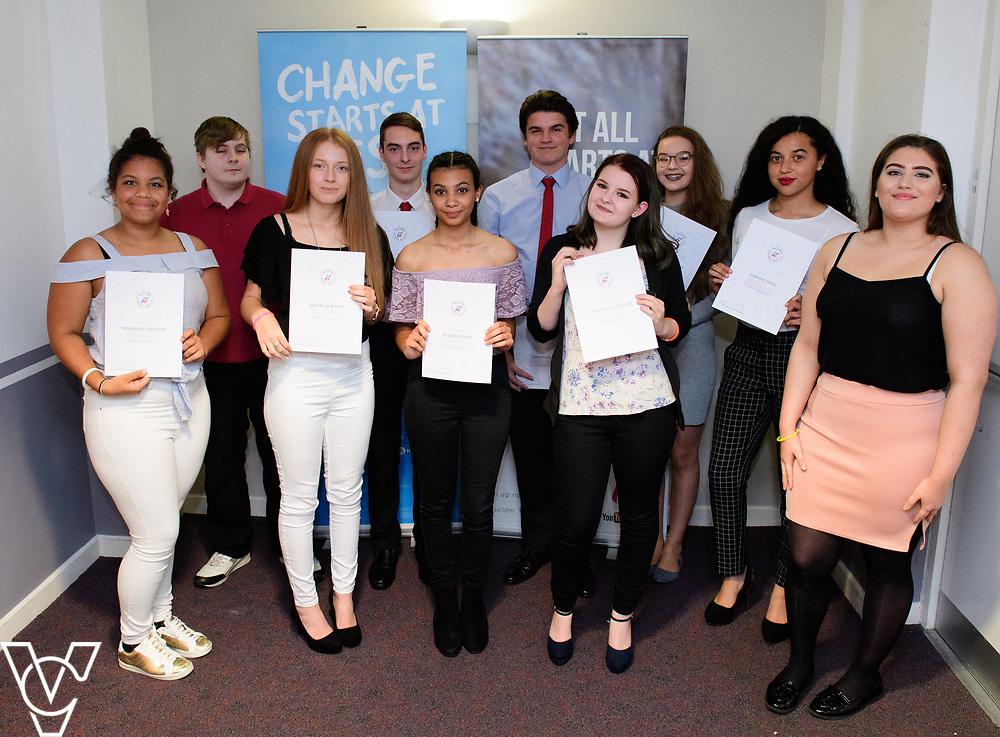 Cohort 1 - Team 5 | NCS EM1 graduation ceremony held at The Castle Theatre, Wellingborough, Northamptonshire.<br /> <br /> Picture: Chris Vaughan Photography<br /> Date: September 13, 2017