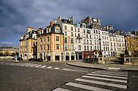 France, Paris (75), Île de la cité et le Pont Neuf durant le confinement du Covid 19 // France, Paris, Île de la cité and Pont Neuf bridge during the containment of Covid 19