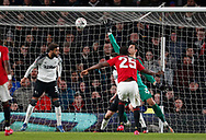 Odion Ighalo of Manchester United scores their third goal during the FA Cup match at the Pride Park Stadium, Derby. Picture date: 5th March 2020. Picture credit should read: Darren Staples/Sportimage