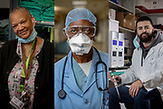 Dr. Tunji Ladipo in the emergency room Tuesday, Dec. 15, 2020 at Roseland Hospital. Dr. Ladipo will be among the five recipients to share the first vial of COVID-19 vaccine Thursday at Roseland Hospital on Chicago's Far South Side. (Brian Cassella/Chicago Tribune)