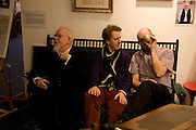 SIR PETER BLAKE; ADAM DANT; GAVIN TURK;  , Preview evening for the London Art Fair. Business Design Centre. Islington. London. 13 January 2009.  *** Local Caption *** -DO NOT ARCHIVE -Copyright Photograph by Dafydd Jones. 248 Clapham Rd. London SW9 0PZ. Tel 0207 820 0771. www.dafjones.com<br /> SIR PETER BLAKE; ADAM DANT; GAVIN TURK;  , Preview evening for the London Art Fair. Business Design Centre. Islington. London. 13 January 2009.