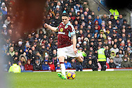 Robbie Brady of Burnley takes a free kick and scores his teams 1st goal. Premier league match, Burnley v Chelsea at Turf Moor in Burnley, Lancs on Sunday 12th February 2017.<br /> pic by Chris Stading, Andrew Orchard Sports Photography.