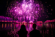 People look on during Thunder over Louisville at Waterfront Park.