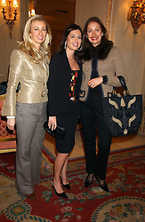 Left to right, JENNY HALPERN PRINCE, KATERINA FOMICHEV and RUANNE DELLAL at a ladies lunch in aid of the NSPCC held at The Ritz, Piccadilly, London on 7th March 2006.<br /><br />NON EXCLUSIVE - WORLD RIGHTS