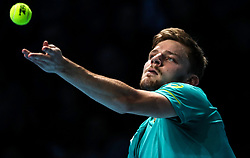 2017?11?17?.    ?????1???——ATP????????????.       11?17?????????.       ???????????ATP???????????????????????????2?0??????????.       ???????????????.(SP) BRITAIN-LONDON-TENNIS-ATP FINALS-GOFFIN VS THIEM.(171117) -- LONDON, Nov. 17, 2017  David Goffin of Belgium competes during the singles round-robin match against Dominic Thiem of Austria during the Nitto ATP World Tour Finals at O2 Arena in London, Britain on Nov. 17, 2017. David Goffin won 2-0. (Credit Image: © Tang Shi/Xinhua via ZUMA Wire)