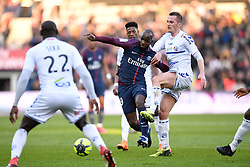 February 17, 2018 - Paris, France - 19 LASSANA DIARRA (psg) - 11 Dimitri LIENARD  (Credit Image: © Panoramic via ZUMA Press)