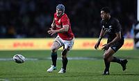 Rugby Union - 2017 British & Irish Lions Tour of New Zealand - Maori All Blacks vs. British & Irish Lions<br /> <br /> Jonathon Davies of The British and Irish Lions tries to pick up a ball he has kicked on at Rotorua International Stadium, Rotorua.<br /> <br /> COLORSPORT/LYNNE CAMERON