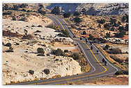 A Road through the Grand Staircase Escalante region of southern Utah, USA