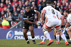 Beno Obano of Bath Rugby looks to pass the ball - Mandatory byline: Patrick Khachfe/JMP - 07966 386802 - 18/01/2020 - RUGBY UNION - Kingspan Stadium - Belfast, Northern Ireland - Ulster Rugby v Bath Rugby - Heineken Champions Cup