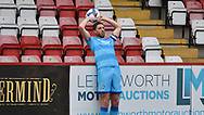 Cheltenham Town's Ben Tozer during the EFL Sky Bet League 2 match between Stevenage and Cheltenham Town at the Lamex Stadium, Stevenage, England on 20 April 2021.