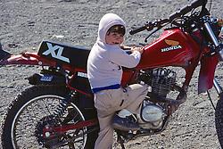 Young Boy And Motor Bike