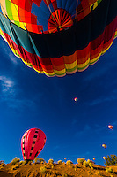 A hot air balloon envelope, Albuquerque International Balloon Fiesta, Albuquerque, New Mexico USA.