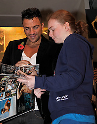 © Licensed to London News Pictures. 30/10/2012. London, U.K..Peter Andre signs copies of his new album Angels & Demons for fans in HMV store on Oxford Street, London, this morning (30/10/2012)..Photo credit : Rich Bowen/LNP