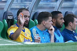 September 17, 2017 - Reggio Emilia, Italy - Gonzalo Higuain of Juventus nervous on the bench after the substitution  during the Serie A match between US Sassuolo and Juventus at Mapei Stadium - Citta' del Tricolore on September 17, 2017 in Reggio nell'Emilia, Italy. (Credit Image: © Matteo Ciambelli/NurPhoto via ZUMA Press)