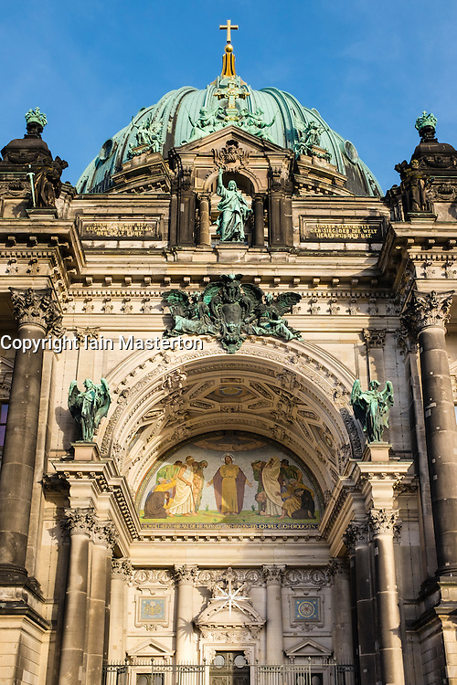 View of facade of Berlin Cathedral in Germany