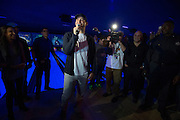 Tony Romo appears at the Bowlmor Dallas grand re-opening celebration on January 23, 2016. (Cooper Neill)