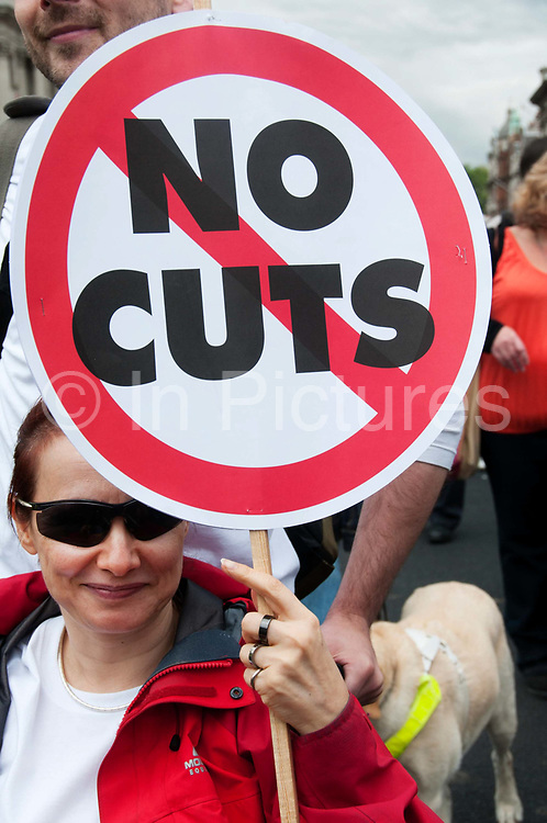Hardest Hit demonstration  against government cuts to services to people with disabilities. 11th May 2011.