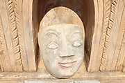 A stone face at Takhaung Mwetaw Pagoda on the banks of Inle Lake on 21st January 2016 in Shan State, Myanmar