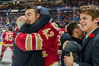 REGINA, SK - MAY 27:  The Acadie-Bathurst Titan celebrate the win against the Regina Pats at Brandt Centre - Evraz Place on May 27, 2018 in Regina, Canada. (Photo by Marissa Baecker/CHL Images)