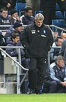 Fotball<br /> England 2004/2005<br /> Foto: SBI/Digitalsport<br /> NORWAY ONLY<br /> <br /> Manchester City v Birmingham City, City of Manchester Stadium, Manchester. Premiership, 20/04/2005. <br /> <br /> Birmingham manager Steve Bruce isn't to happy as Man City score their third goal.