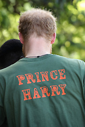 Prince Harry during a visit to 'Nature Fun Ranch', which allows young people to speak freely with one another about important topics, including HIV/AIDS, providing them with a positive focus to guide their lives in the right direction, during his tour of the Caribbean.